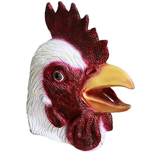 MASCARELLO® Gallo Pollo in Lattice Testa di Animale Testa di Gallina Maschera di Tacchino Halloween Costume di Halloween Costume Fancy Dress Mask