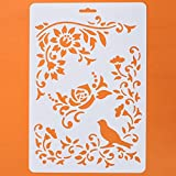 Asian Hobby Crafts Craft Stencils For Sketching, Scrapbooking, Kids Crafts (A4, Abstract C)