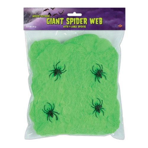Beistle 00553-bk FR Giant Spider Web pkg of 1 Slime Green