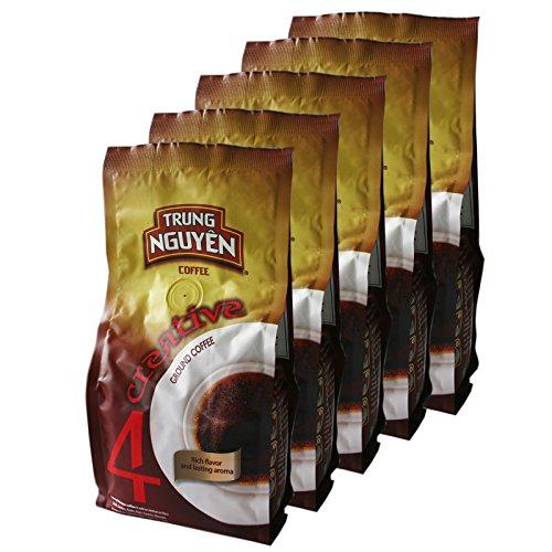 5x250g Trung Nguyen Creative 4 Vietnam Kaffee gemahlen (Arabica,Robusta,Excelsa,Catimor) (Nguyen Kaffee)
