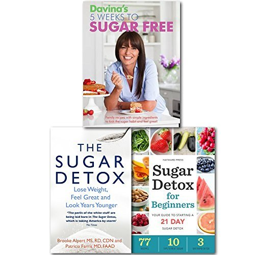 Davina The Sugar Free Detox Collection 3 Books Set, (Davina's 5 Weeks to Sugar-Free: Yummy, easy recipes to help you kick sugar, feel amazing and The Sugar Detox: Lose Weight, Feel Great and Look Years Younger and Sugar Detox for Beginners: Your Gui)
