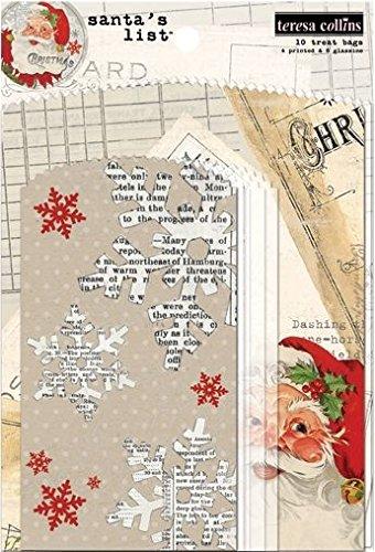 Teresa Collins Designs sacco di Babbo Natale lista chicche