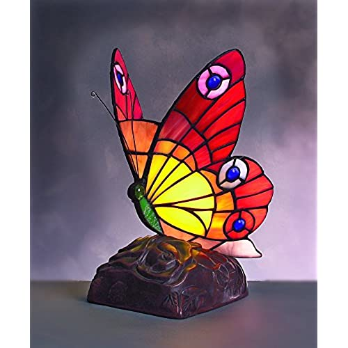 Novelty table lamps amazon bf11 large tiffany butterfly table lamp aloadofball