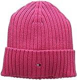 Tommy Hilfiger Unisex Strickmütze PIMA Cotton Cashmere Beanie, Rosa (Pink Flambe 902), Medium (Herstellergröße: S-M)
