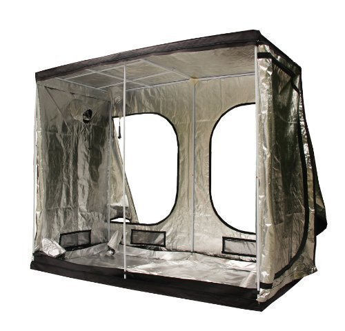 FoxHunter New Design Quality Portable Grow Tent Silver Mylar Green Room Hydroponic Bud Room Dark Room 240cm x 120cm x 200cm for Gardening Hydroponics