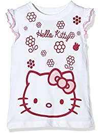 Hello Kitty Girl's Flowers Short Sleeve Crew Neck T-Shirt