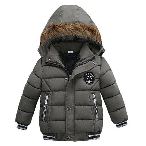 Homebaby - Bambino Giacche Bambino Invernali, Giacche di piuma Giubbotti per Ragazze Inverno Cappotti con Cappuccio Felpa Maniche Lunghe Cardigan Abbigliamento Bambine E Bambino