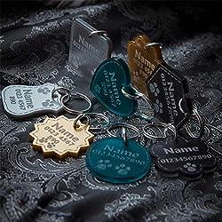 National Engraver Pendentifs pour Colliers de Chien Chat Tag Disque Animaux Accessoires Collier Étiquette d'identification Médaille Gravure Personnalisé, Premium