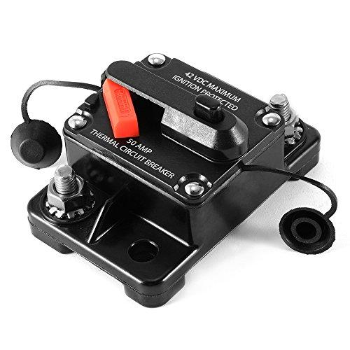 V-42V Auto-Stereo-Audio-Inline-Leistungsschalter Ersatzsicherung Sicherung Mit manuellem Reset für Auto Car MA1071 (Inline-push-button Switch)