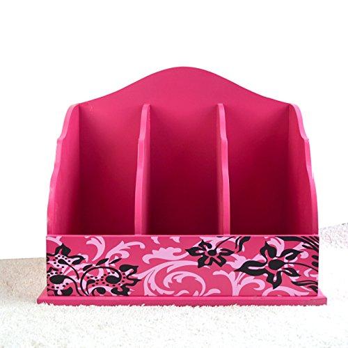 Porte-magazines et porte-journaux Étagères À Grande Échelle En Édition De Style Européen Rose Red Solid Wood Home Decoration