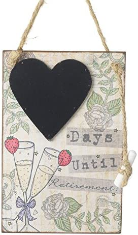 Heaven Sends - - - Tableau 'Days Until RetireHommes t' (18 x 12 x 1.2cm) (Blanc) B075B141NV 1ad7b7