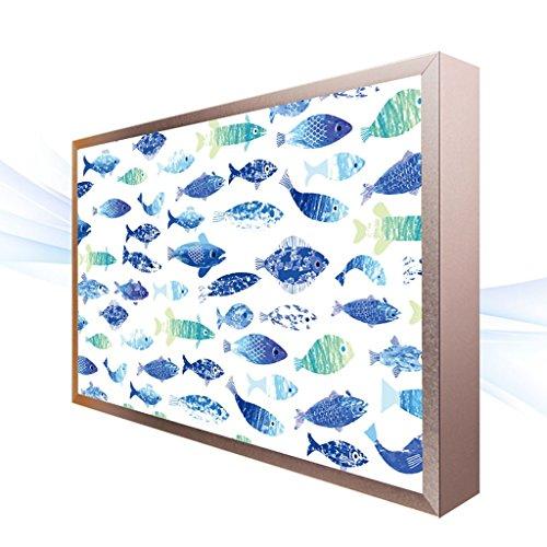 LED Wandleuchte Moderne minimalistische LED Aquarell blau Fisch Muster Wandleuchte Lampe ultradünne...