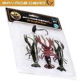Savage Gear Crayfish Kit 8cm Kit - 3 Gummikrebse + Jighaken zum Spinnfischen, Gummiköder für...