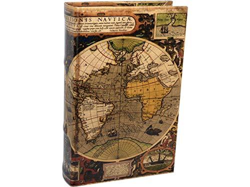 Vidal Regalos Caja Fuerte Forma Libro Mapamundi 24 cm