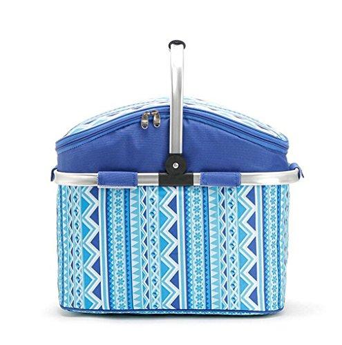 6 Liter Isolierte Kühler Kühltasche Zusammenklappbare Picknick Camping Lunch Box ()