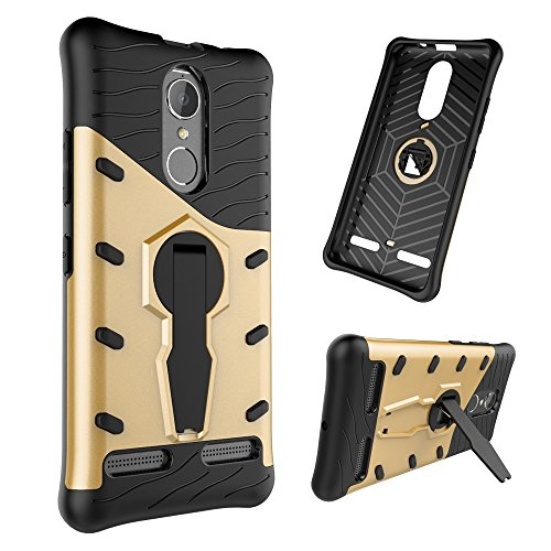 Für Lenovo K6 & K6 Power Armor Cover, 2 In 1 Durable TPU + PC Heavy Duty 360 ° Drehbarer Stand Dual Layer Shockproof Case Cover ( Color : Red ) Gold
