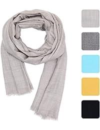 KASHFAB Kaschmir-Frauen Mens-Winter-Art- und Weiseebener Schal, Wool Silk Stola, weicher langer Schal, warmer Pashmina