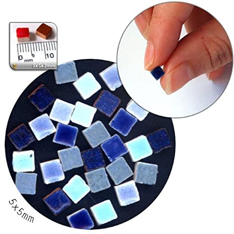 Mosaic-Minis (5x5x3mm), 250 pieces, mix blue, MXBL