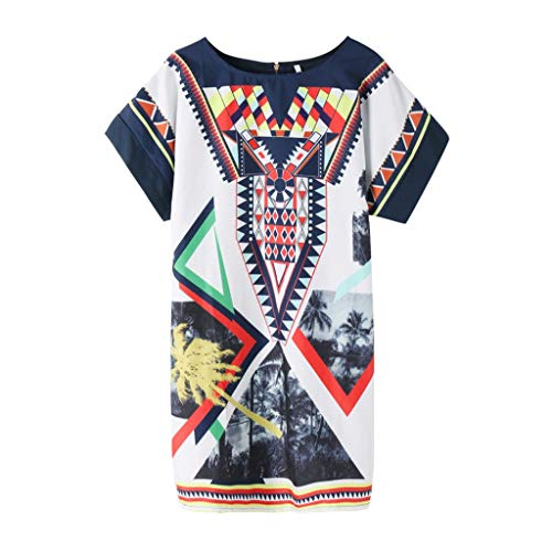 961844e45 Summer Dresses for Women Short Sleeve Pockets Casual Swing T-Shirt Women's  Day Dress Women