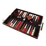 PrimoLiving Backgammon mit Kunstleder Koffer 47,5 x 36,5 cm