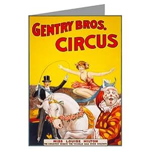 Circo Bareback il cavaliere signorina Louise Hilton C1890dodici attenzione carte–Box Set