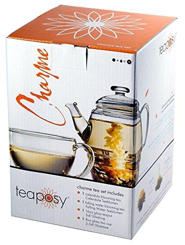 Edles exklusives Teaposy Teeblumen - Geschenkset