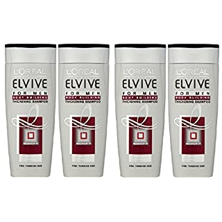 (4 PACK) L'Oeal Paris Elvive for Men Regenium XY Body Building Thickening Shampoo x 250ml