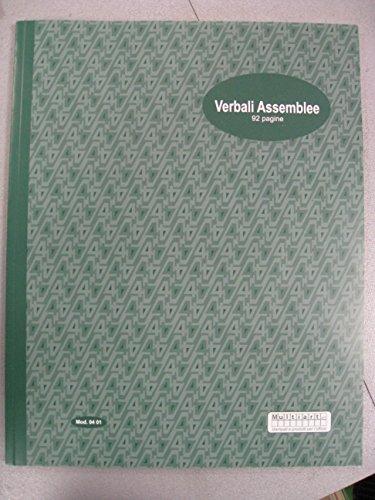 VERBALI ASSEMBLEE 92 PAGINE MOD. 0401