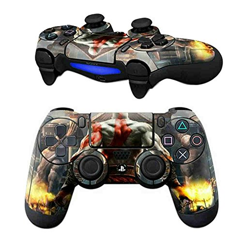 Elton PS4 Controller Designer 3M Skin for Sony PlayStation 4 DualShock Wireless Controller - God of War Painted Back, Skin for One Controller Only