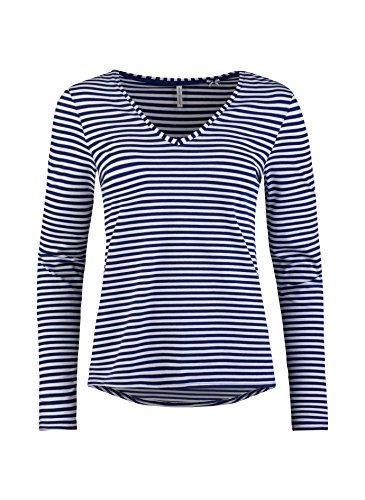 Short Stories - Haut de pyjama - Manches Longues - Femme blau/weiß 50209