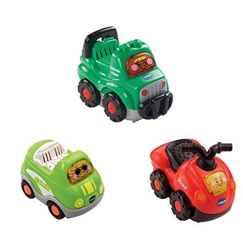 VTech Baby 80-205844 - Tut Tut Flitzer Fahrzeuge - Set 9: Quad, Geländewagen, Cabrio (3er Set) -