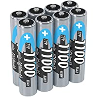 ANSMANN Micro AAA Battery 1.2V Type 1100mAh - NiMH Rechargeable Battery AAA for devices with high power consumption - ideal for DECT Phone Phone Camera MP3 Solar Lamp LED Flashlight & Headlamp - 8 pieces