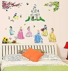 Idea Regalo - ufengke® Bella Bella Principessa Nani e il Castello del Fumetto Adesivi Murali, Camera Dei Bambini Vivai Adesivi da Parete Removibili/Stickers Murali/Decorazione Murale