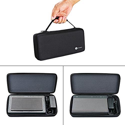 Meijunter Tragbare Reise Harte Hülle Schutzhülle Tasche Beutel Schutzbox Etui Case Bag für B&W Bowers&Wilkins T7/Creative Sound Blaster Roar1 Roar2 Bluetooth Lautsprecher Extra Room for Dock & Cable Ltd Bluetooth