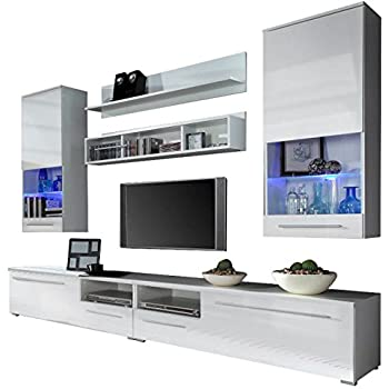 Wohnwand Vigo New3, Anbauwand, Wohnzimmer Möbel, Hochglanz !!! Mit