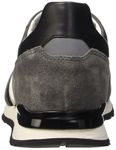 BIKKEMBERGS Herren Mant 650 L.Shoe M Nylon/Suede Durchgängies Plateau Pumps Mehrfarbig (Dk.Grey/Grey/Black)