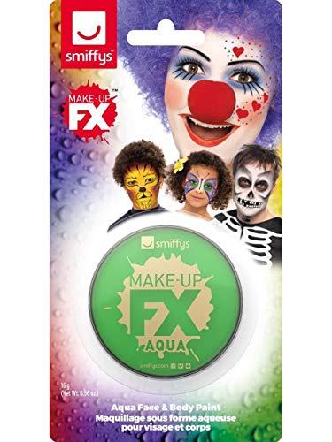 Smiffys Unisex Make-Up, Gesichtswasser und Körperfarbe, Wasserlöslich, 16ml, Grün, 47027 (Halloween Zu Body-paint-ideen)