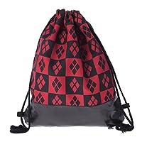 Creativee Boys Girls Teenager Drawstring Backpack ,Full printing Gym Bag for man woman, Fashion School Shoulder Rucksack, Leather bottom Folding Bag for Travel or Sport Storage (HARLEY QUINN)