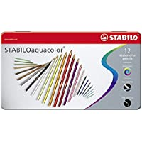 STABILO aquacolor matita colorata acquarellabile - Scatola in Metallo da 12