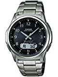 Casio Men's Quartz Watch with Black Dial Analogue - Digital Display and Silver Titanium Bracelet WVA-M630TDE-1AER