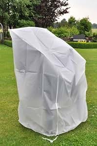 Schutzhülle, Abdeckplane, Abdeckung, Staubschutz für Stapelstühle 62x62x80/120 cm