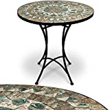 Mosaic table, garden table, balcony table, bistro table, side table, coffee table, sturdy, handmade, mosaic table top, diameter 60 cm - different models
