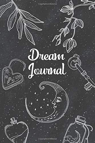 Dream Journal: Notebook And Diary For Recording Dream Interpretations: Compact Bedside Table Size, 100+ Lined Pages - Magic Black Starry Space Witch ... and Kids (Dream Journal Lined Pages, Band 42) - Black Magic Compact