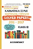 Oswaal Karnataka PUC II Chapterwise Solved papers with Topper's Ans. Class 12 Accountancy