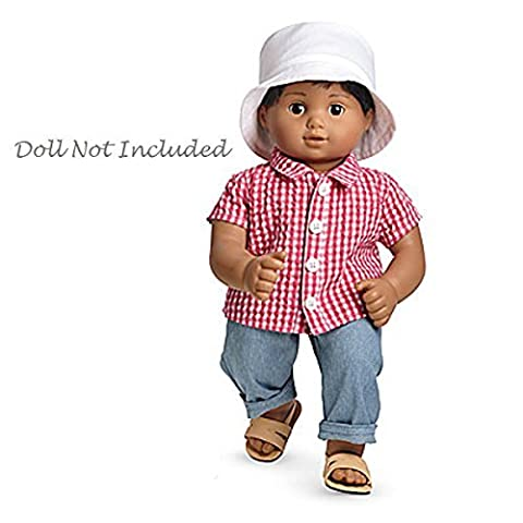 American Girl Bitty Twin Beachcomber Outfit for 15 Dolls In Package (Doll Not Included) by American Girl