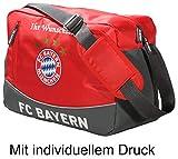FC Bayern Schultertasche mit Ihrem persönlichen Wunschtext in Wunschfarbe