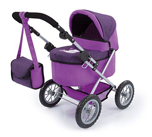Bayer Design 13026AA - Puppenwagen Trendy,  dunkel lila