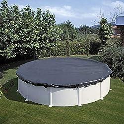 Gre CIPR551 - Bâche d'hiver pour piscine ronde de 550 cm de diamètre, couleur noire