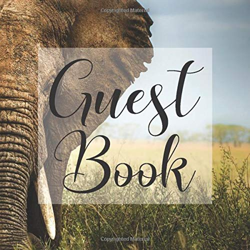 Safari African Animal- Signing Guestbook Gift Log Photo Space Book for Birthday Party Celebration Anniversary Baby Bridal Shower ... Keepsake to Write Special Memories I ()