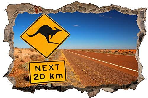 Australien Wüste Schild Kangaroo Wandtattoo Wandsticker Wandaufkleber D1689 Größe 40 cm x 60 cm